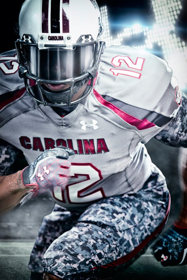 Under Armoursouth Carolina Gamecocks Camouflage Football Uniform