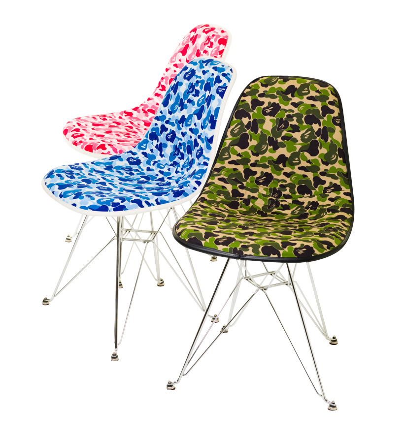 BAPE-Camouflage-Chairs-Retro