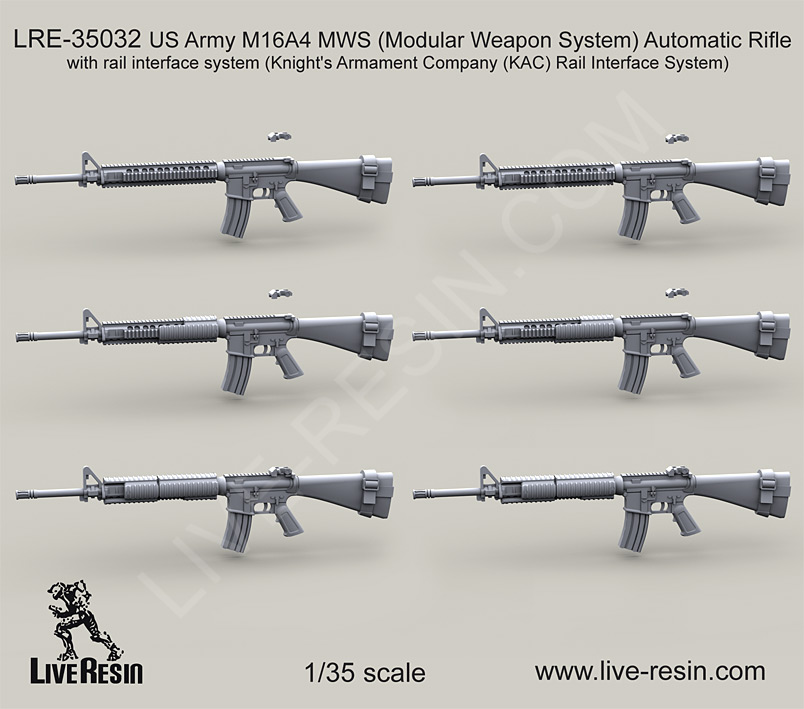 Live-Resin-Military-Scale-Model-M16A4