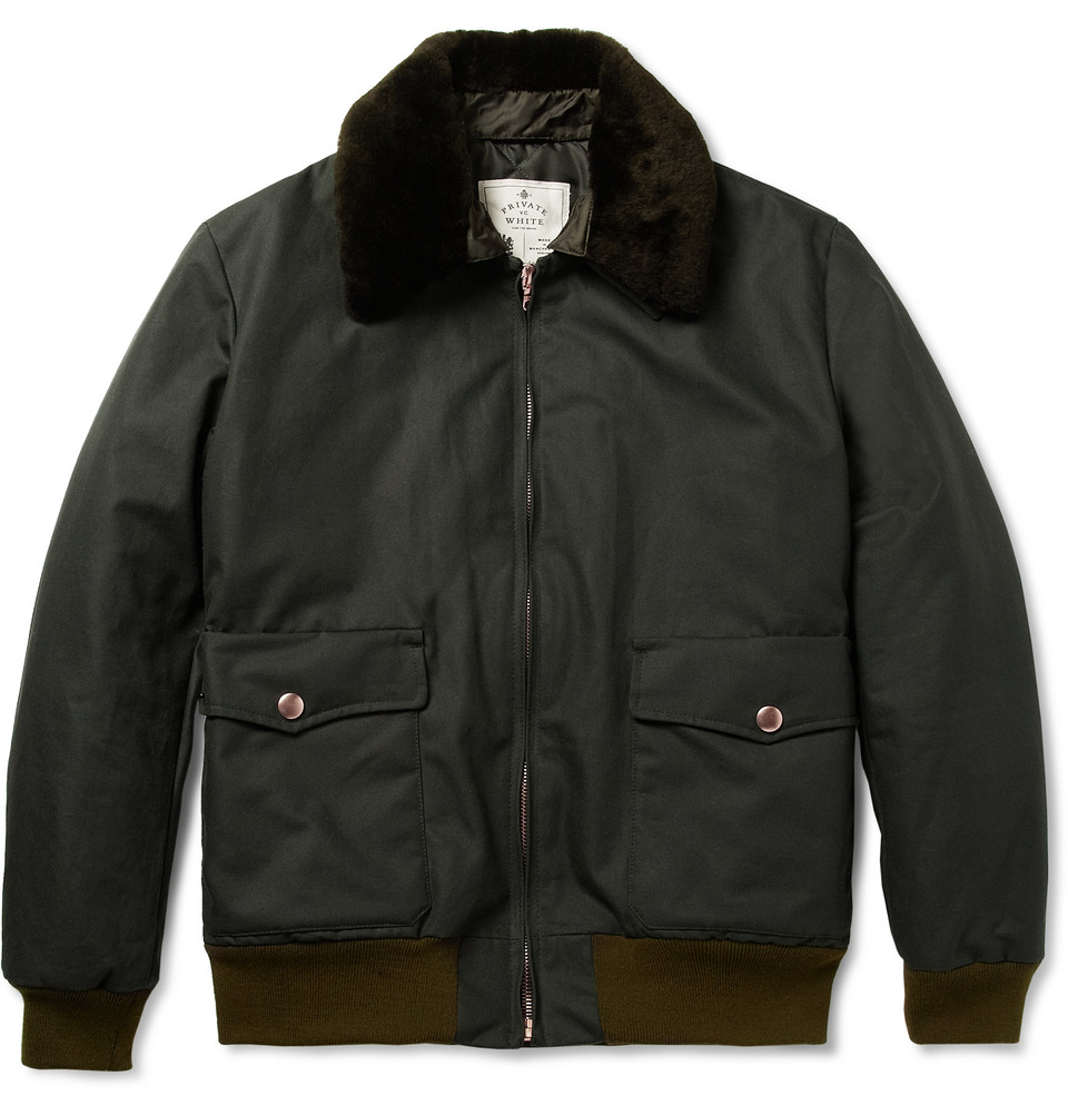 Waxed Cotton A-2 Flight Jacket
