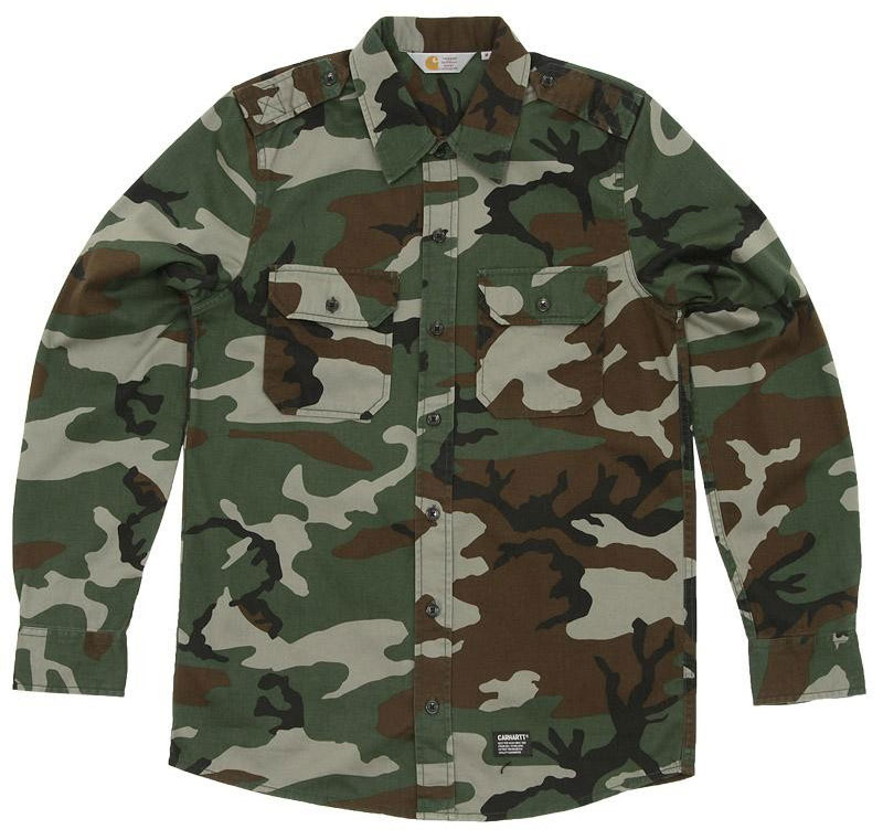 Carhartt-Military-Shirt-Woodland-Camouflage