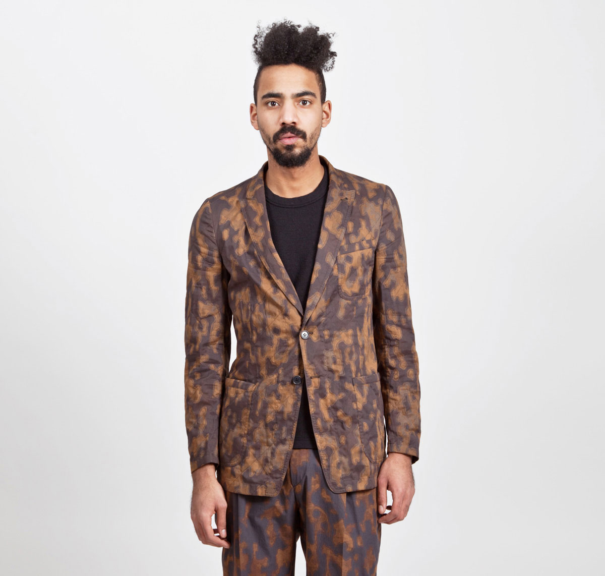 Dries-Van-Noten-Camouflage-Jacket-Rust