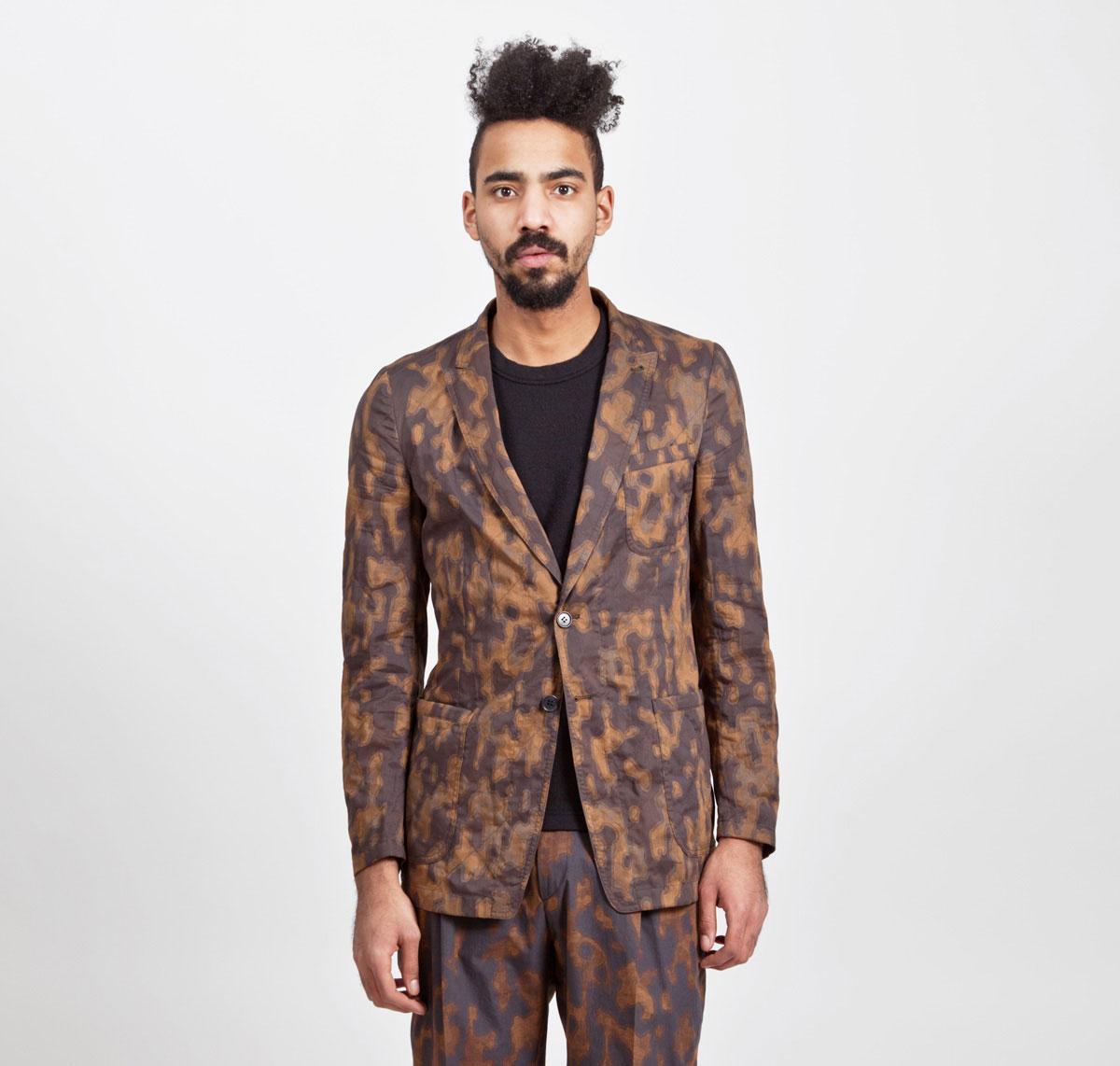 Dries-Van-Noten-Camouflage-Jacket-Rust