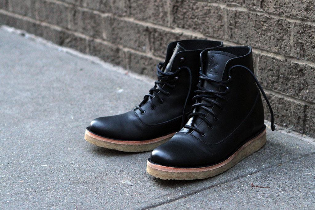 Ronnie-Fieg-Caminando-KithNYC-Officer-Boots-Black
