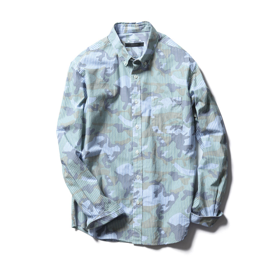 SOPH-Camouflage-Striped-Button-Up-Dress-Shirt-1