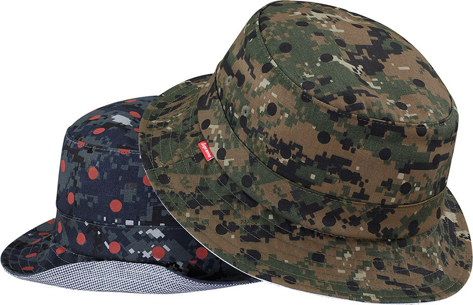 Supreme-Comme-Des-Garcons-Polkadotted-Digital-Camouflage-Bucket-Hat