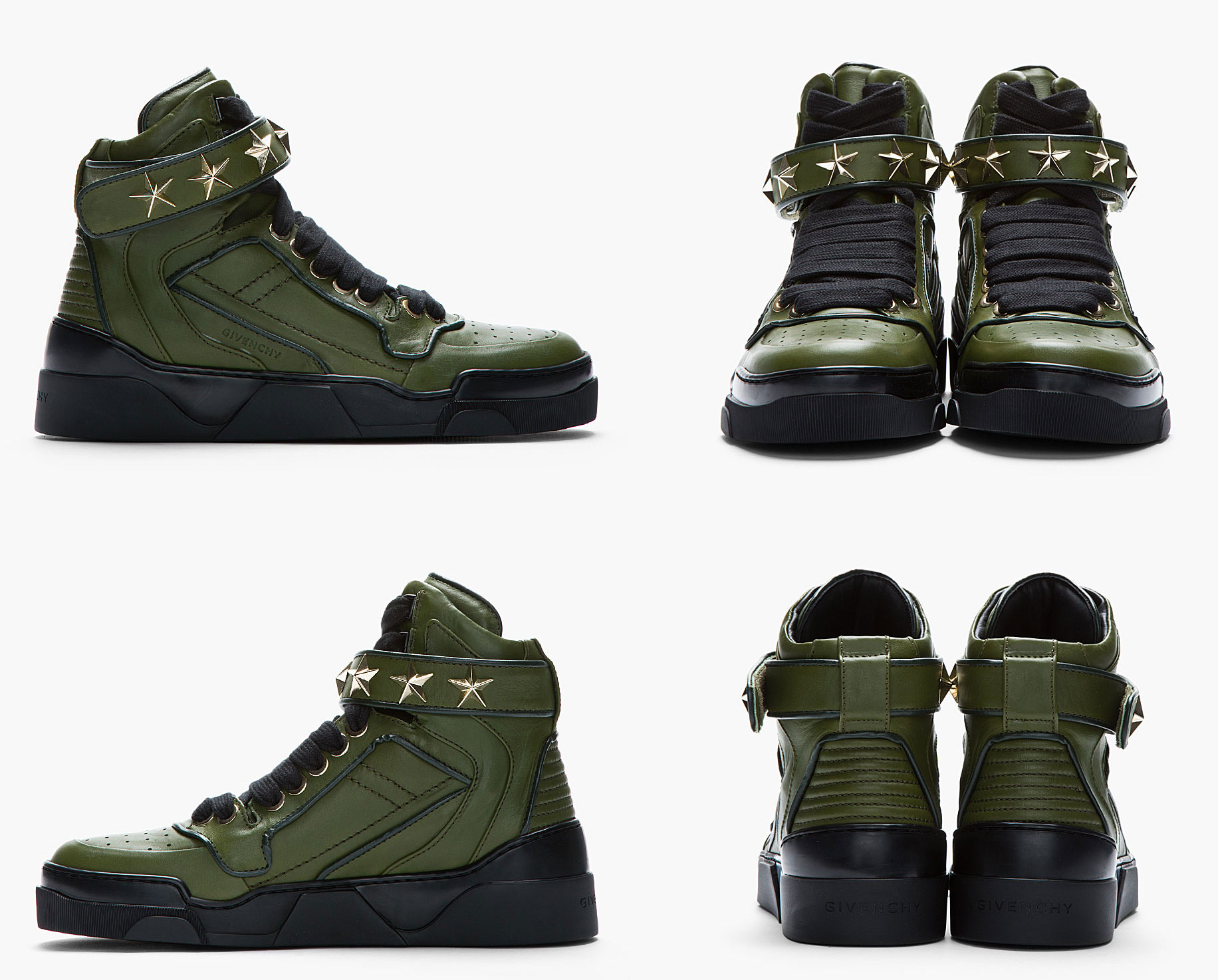 Givenchy-Olive-Drab-Leather-Hi-Top-Sneakers