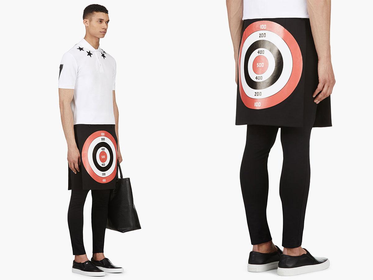 Givenchy-Target-Print-Apron-Skirt